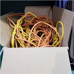 BOX OF EXTENSION CORDS AND LED LIGHTS TRIPS