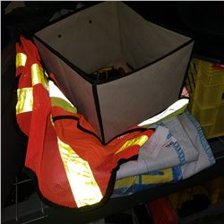 1 TON LIFTING BAG, BOX OF TOOLS, AND HIGH VIS VEST