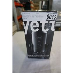 YETI BLACKOUT ULTIMATE USB MICROPHONE IN BOX - TESTED AND WORKING