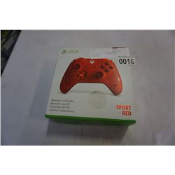XBOX ONE WIRELESS CONTROLLER, RED - STORE RETURN, UNTESTED