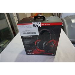 HYPERX CLOUD II RED GAMING HEADSET IN BOX - TESTED AND WORKING