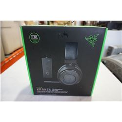 RAZER KRAKEN TOURNAMENT EDITION WIRED GAMING HEADSET W/ USB AUDIO CONTROLLER - TESTED AND WORKING