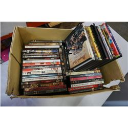2 BOXES OF DVDS