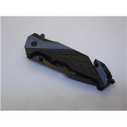 Blue Snake Eye Tactical Spring Assist Knife 4.5 inches Closed