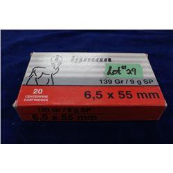6.5 x 55 Factory- 1 Box