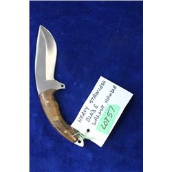 "Stainless 5"" Blade Knife - Ash 440 Steel"