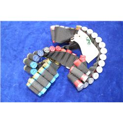 Belt and 50 Assorted 12 ga. Live Ammo