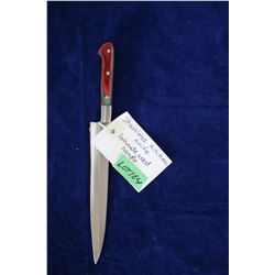 "Kitchen Knife, Stainless, Ash 440 Steel, 8 1/2"" Blade, Laminated Wood Handle"