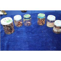 6 Jars of Assorted Bullets