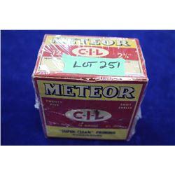 "9 New Primed Hulls of Meteor (CIL) 12 ga. 2 5/8"""