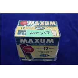 """Full Box of 25 Maxum, 12 ga., 2 3/4"""", #5 Shot, Pressure Sealed Crimp"""