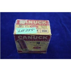 "Full Box of 25 Canuck Standard Load, 10 ga., 2 3/4"", #4 Shot"