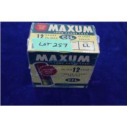 """Full Box of 25 Maxum Long Range Load, 12 ga, 2 3/4"""", #5 Shot, Pressure Crimp Sealed"""