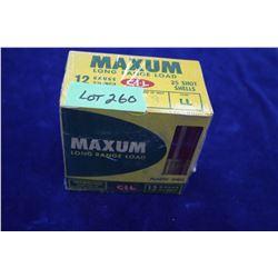 """Full Box of 25 Maxum Long Range Load, Plastic, 12 ga., 2 3/4"""", #2 Shot"""