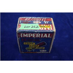 Full Box of 25 Imperial Special Long Range Load, 12 ga., Smokeless, #2 Shot.  **Rare two pc. Box