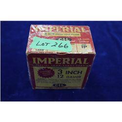 "Full Box of 25 Imperial, 3"" Special Long Range, 12 ga., #4 Shot, Pressure Sealed Crimp"