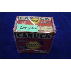 Full Box of 25 Canuck Heavy Load Smokeless, 12 ga., #2 Shot, Waterproof, Finished in Duco