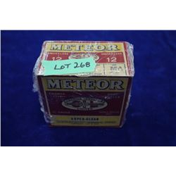 Full Box of 25 Meteor Smokeless, 12 ga., Double Chilled Shot, Waterproof, Finished in Duco