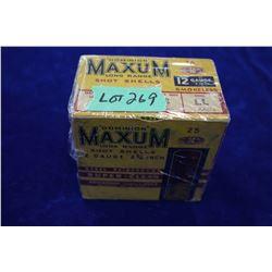 "Full Box of Dominion Maxum Long Range, 12 ga., 2 3/4"", #3 Shot, Special Steel Reinforced, Waterproof"