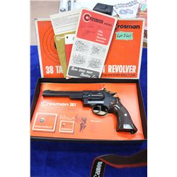 Crossman Pellet Gun, Revolver, .38T, with Manuals & the Original Box
