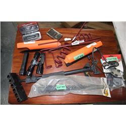 Box with Miscellaneous Rod Holders; Hand Warmer & Flashlights