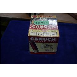 Collector Box with 25 Canuck Trap Load, 12 ga., #7 ½ Shot & a Collector Box with 25 Imperial CIL Spe