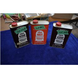3 Tins of Gun Powder, IMR4350, Smokeless & IMR 4831, Smokeless