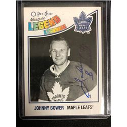 JOHNNY BOWER SIGNED O-PEE-CHE MARQUEE LEGEND HOCKEY CARD