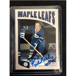 RED KELLY SIGNED VINTAGE MAPLE LEAFS HOCKEY CARD