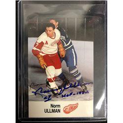 NORM ULLMAN SIGNED VINTAGE HOCKEY CARD