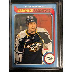 SHEA WEBER SIGNED HOCKEY CARD