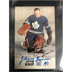 JOHNNY BOWER SIGNED VINTAGE HOCKEY CARD