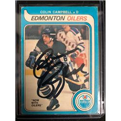 COLIN CAMPBELL SIGNED VINTAGE OILERS HOCKEY CARD
