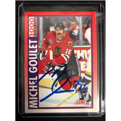 MICHEL GOULET SIGNED 1991 SCORE HOCKEY CARD