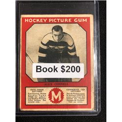 1934-35 Canadian Chewing Gum Hockey Picture Gum Alex Connell