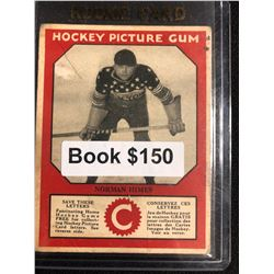 1934-35 Canadian Chewing Gum Hockey Picture Gum Norman Himes RC