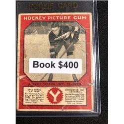 1934-35 Canadian Chewing Gum Hockey Picture Gum Aubrey Victor Clapper RC
