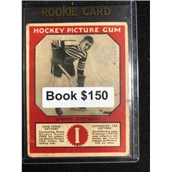 1934-35 Canadian Chewing Gum Hockey Picture Gum Johnny Gottselig RC