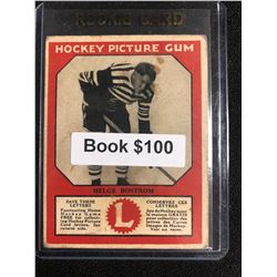 1934-35 Canadian Chewing Gum Hockey Picture Gum Helge Bostrom RC