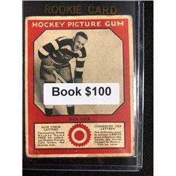 1934-35 Canadian Chewing Gum Hockey Picture Gum Dan Cox RC