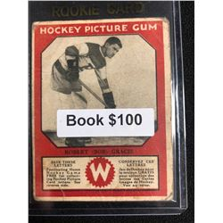 1934-35 Canadian Chewing Gum Hockey Picture Gum Robert Gracie RC