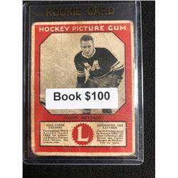 1934-35 Canadian Chewing Gum Hockey Picture Gum Glenn Brydson RC