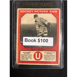 1934-35 Canadian Chewing Gum Hockey Picture Gum Billy Brydge RC