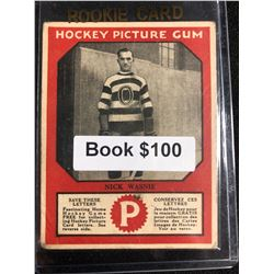 1934-35 Canadian Chewing Gum Hockey Picture Gum Nick Wasnie RC