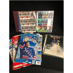HOCKEY TRADING CARDS LOT w/ WAYNE GRETZKY CEREAL BOXES (VARIOUS YEARS)