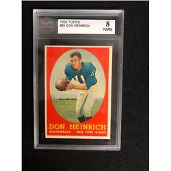 1958 TOPPS #83 DON HEINRICH (8 NMM)