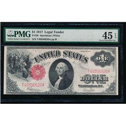 1917 $1 Legal Tender Note PMG 45EPQ