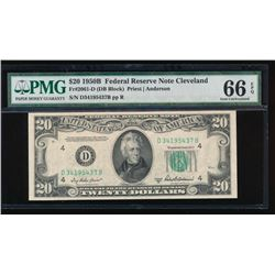 1950B $20 Cleveland Federal Reserve Note PMG 66EPQ
