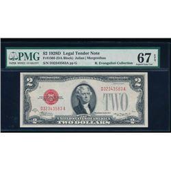 1928D $2 Legal Tender Note PMG 67EPQ
