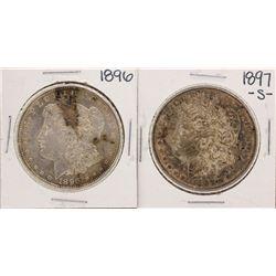 Lot of 1896 & 1897-S $1 Morgan Silver Dollar Coins